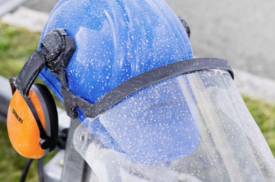 Personal protective equipment when working with DYNAJET high-pressure cleaners