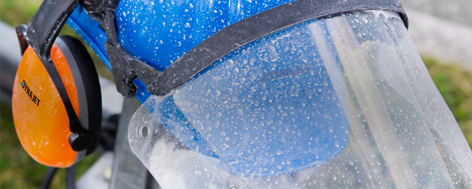 High-pressure water jetting can be dangerous. We recommend that you always wear personal protective equipment (PPE) when working to minimise the risk of injury.