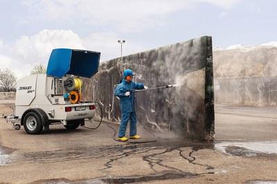 DYNAJET efficiency: cleaning a bunker silo