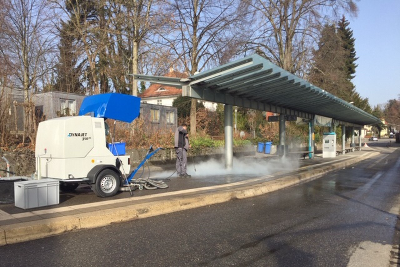 Major cleaning for the garden show in Lindau with the DYNAJET 350th