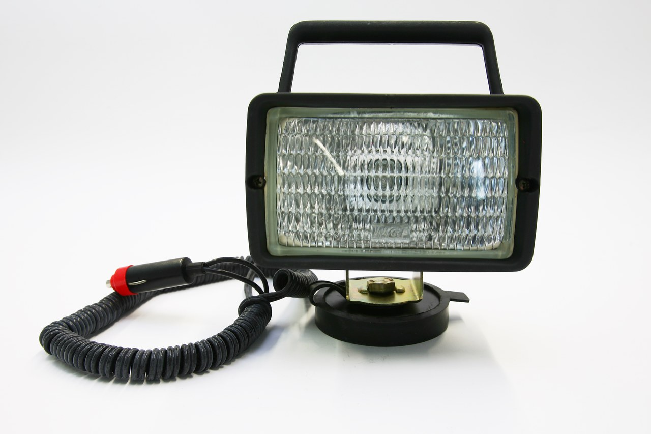 12V/55W working headlight with magnetic foot+cable